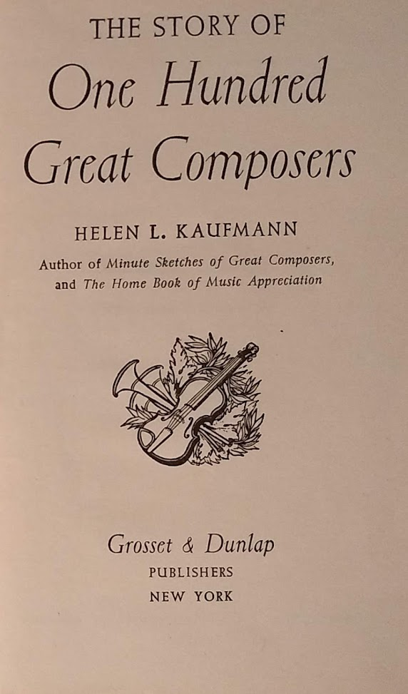 The Story of One Hundred Great Composers Cover Page